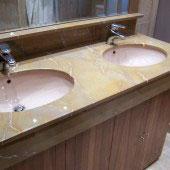 Encimera de baño en mármol 11