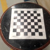 Mesa ajedrez en marmol