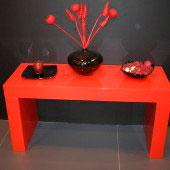 Mesa compacto auziliar roja