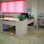 Mesa oficina compacto blanca