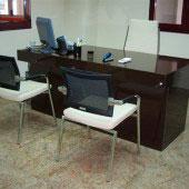 Mesa oficina compacto negra